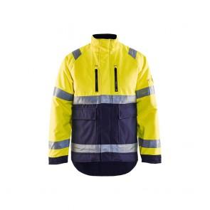 Veste hiver haute visibilité Blaklader jaune marine