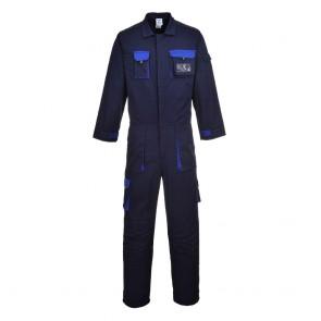 Combinaison de travail Multipoches Portwest Contrast Texo bleu marine bleu royal