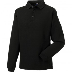 Sweat-shirt de travail col polo Russell - noir
