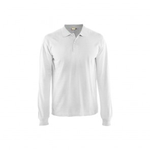 Polo manches longues Homme Blaklader blanc