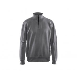 Sweat col camionneur Blaklader Gris face