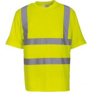 T-shirt manches courtes haute visibilité Yoko jaune