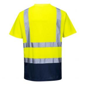 Tee-shirt haute Visibilité Portwest bicolore