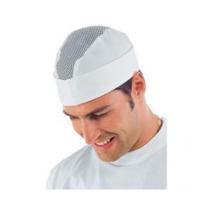 Calot de cuisine Isacco blanc aéré
