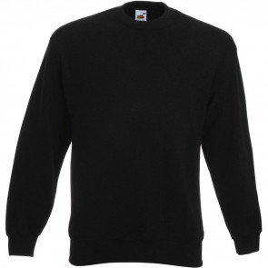 Sweat-shirt manches droites Fruit Of The Loom Noir