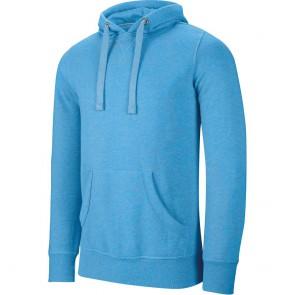 Sweat-shirt à capuche Kariban mélange Bleu clair