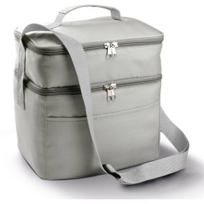 Sac isotherme double compartiment KIMOOD - gris clair
