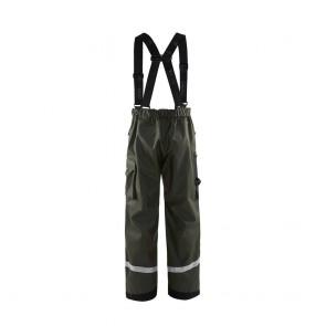 Pantalon de pluie Blaklader Vert armée face