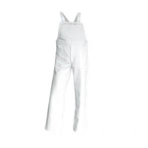 Salopette de Travail Peintre / Platrier / Plaquiste 100% Coton Blanc Brosse - LMA