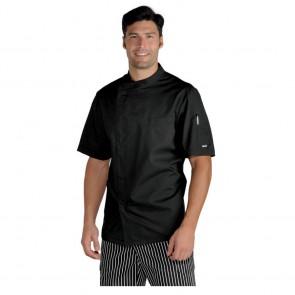 Veste de cuisine noire Ultra Légère Isacco Pretoria Extra Light