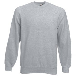 Sweat-shirt manches raglan Fruit Of The Loom Classic gris