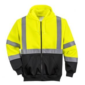 Sweat à capuche Haute-Visibilité bicolore zippé Portwest