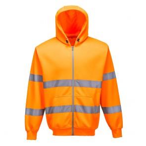 Sweat Shirt zip central à capuche Haute Visibilité Portwest