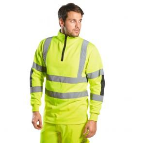 Sweat shirt Haute Visibilité Portwest Rugby Xenon jaune
