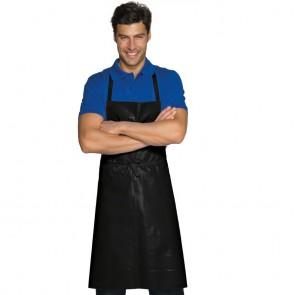 Tablier de cuisine ciré noir Isacco Pettorina