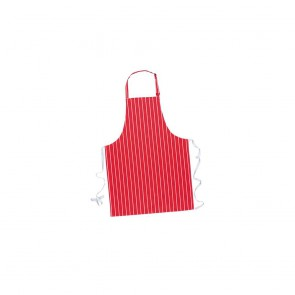 Tablier à bavette Portwest Butcher 100% coton rouge