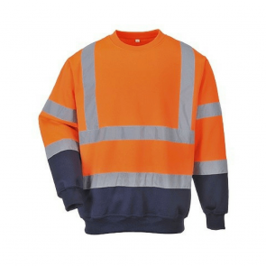 Sweat shirt Haute Visibilité Portwest Bicolore HiVis orange