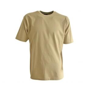 T-shirt de travail uni col rond LMA Lille Beige