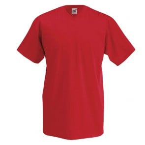 Tee-shirt col V Fruit Of The Loom Valueweight manches courtes