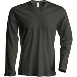 Tee-shirt de travail col V manches longues Kariban 100% coton