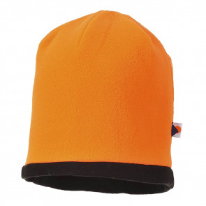 Bonnet haute-visibilité réversible Portwest Orange