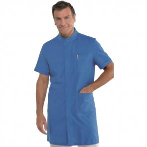 Blouse médicale homme Isacco Dover bleue manches courtes