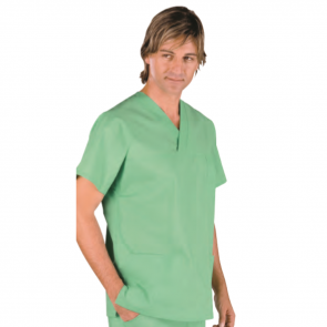 Blouse médicale unisexe Isacco manches courtes Vert
