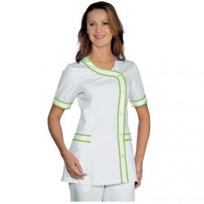 Tunique femme blanche coutures verte Isacco Brasilia