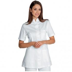 Tunique médicale blanche femme Isacco Panarea 100% coton
