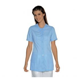 Tunique médicale femme Isacco Lampedusa Bleu clair manches courtes