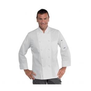 Veste de cuisine blanche Isacco Alabama Slim 100% coton