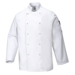 Veste de Cuisine Portwest Suffolk blanc