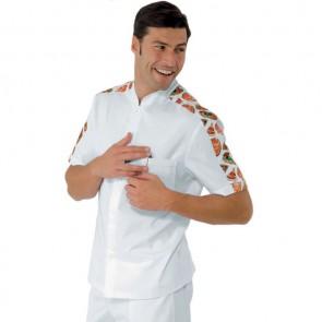 Veste de pizzaiolo manches courtes Isacco 100% coton