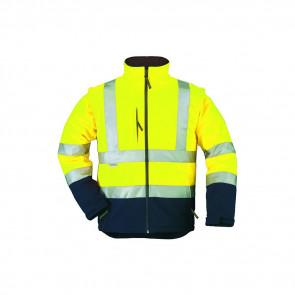 Veste softshell haute visibilité 2en1 Bicolore Coverguard Station manches amovibles
