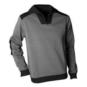 Sweat shirt Polaire à Col Camionneur LMA Arizona Gris Noir