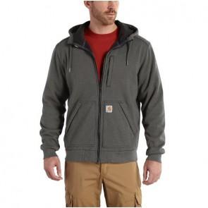 Sweat-shirt zippé à capuche Carhartt Windfighter grise