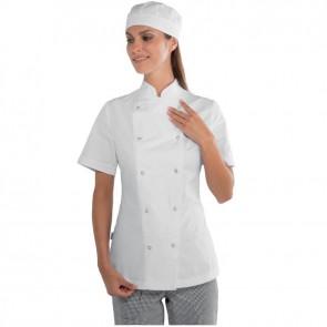 Veste de cuisine blanche veste Isacco 100% manches courtes