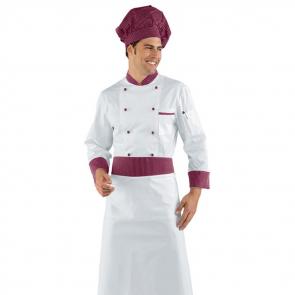 Veste de cuisine Bordeaux Isacco Bicolore