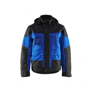 Veste à capuche hiver Blaklader Bleu royal/Noir devant
