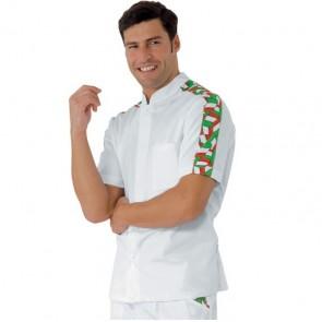 Veste de cuisine Italienne Isacco Lavoro Drapeau Italie