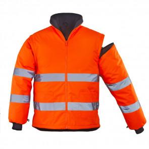 Veste haute visibilité Coverguard Roadway orange manches