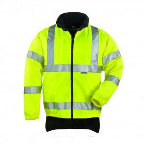 Veste haute visibilité doublée polaire Coverguard Hi-way jaune