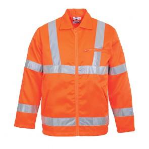 Veste poly-coton Haute Visibilité Portwest GO/RT - Orange