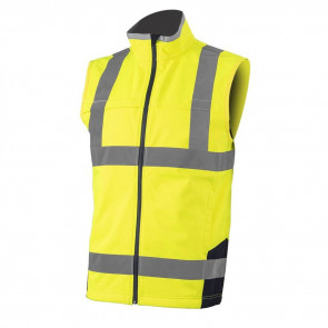 Gilet haute visibilité softshell Coverguard Station Waistcoast Jaune