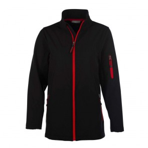 Veste softshell femme 3 couches Penduick Atlantic noir rouge