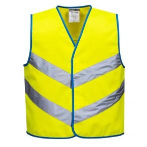 Gilet haute visibilité Portwest Junior jaune face