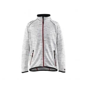 Veste tricotée enfant Blakalder gris rouge