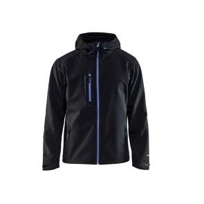 Veste softshell à capuche Blaklader noir bleu