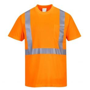 Tee-Shirt haute visibilité Portwest Pocket - Orange