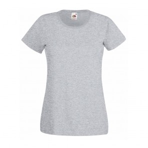 Tee-shirt femme Fruit of the Loom Lady-Fit Valueweightgris